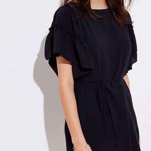 Loft Tiered Flutter Sleeve Shift Dress
